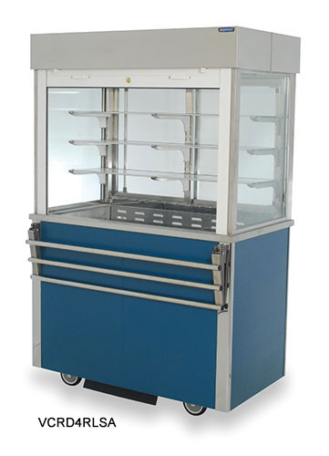 Refrigerated Multi-Tier Displays with roller shutter